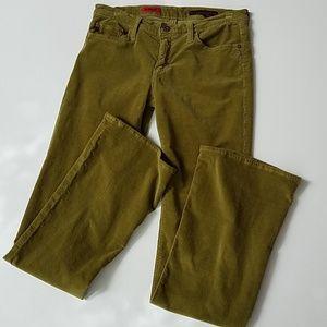 AG Adriand Goldschmidt olive corduroy pants 28r